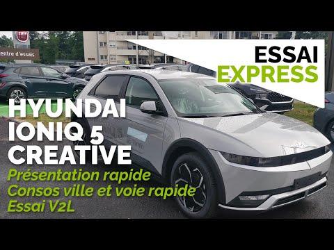 Essai Ioniq 5 creative RWD 72kWh : conso ville + voie rapide / présentation / V2L