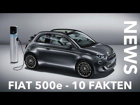 10 Fakten zum neuen FIAT 500e - Endlich auch in Deutschland | Preis Leistung 0-100 Reichweite