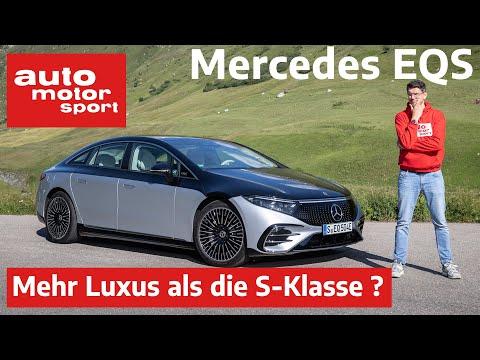 Mercedes-Benz EQS (2021): Kann er Luxus wie die S-Klasse? - Vorfahrt /Review | auto motor und sport