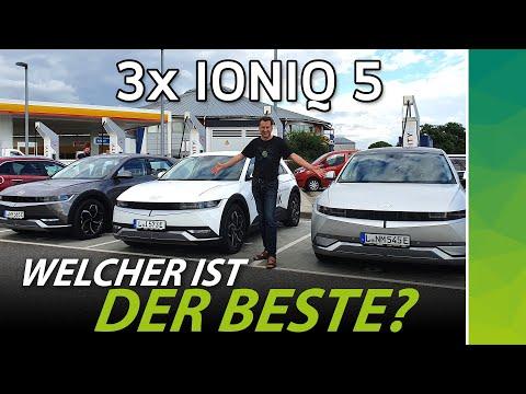 Hyundai IONIQ 5: drei Varianten im großen Vergleich | Reichweite & Aufladen