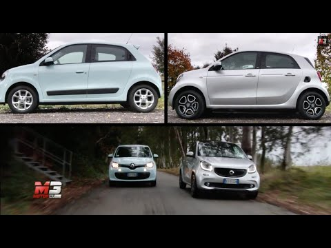 NEW SMART FORFOUR 2015 VS RENAULT TWINGO 2015 - FIRST TEST DRIVE - ENG ITA SUBTITLES