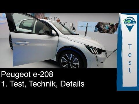 Peugeot e-208 1. Sitzprobe und Eindrücke sowie technische Details vom Genfer Automobilsalon