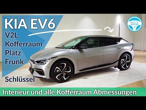 KIA EV6   Review, Innenraum und Kofferraum-Abmessungen