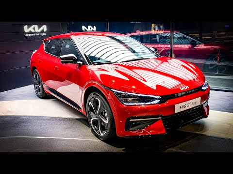 The New 2022 KIA EV6 GT-Line Interior&Exterior First Look