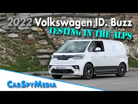 First spy video of the pure electric 2022 Volkswagen ID. Buzz prototype testing in the alps