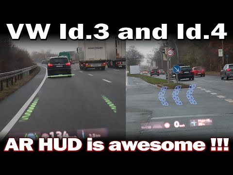 VW Id.3 and Id.4 - Augmented Reality Head up Display in Action